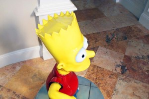 Bart Simpson view from above