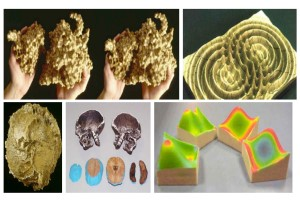 Examples of early 3D printed scientific models
