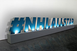 NHL All Star Large Foam Letters Display